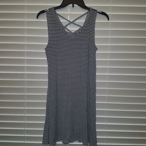 Olivia Rae Dress Blue White Stripes SZ Large